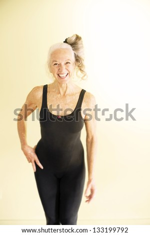 Mature women in spandex