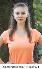 Beautiful fit young woman exercising in the park. Fall time. Health concept. Fitness concept. Concept of endurance and motivation.