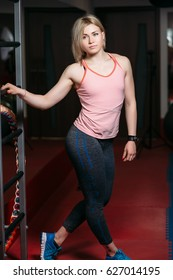 beautiful fitness woman  in the gym