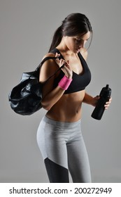 beautiful fitness woman ready for the workout, studio shot
