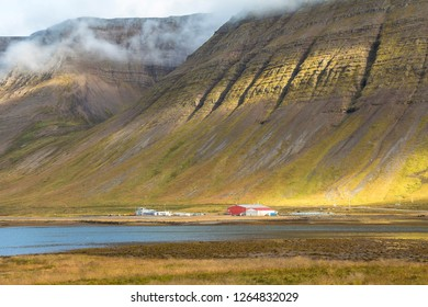 Beautiful fjord landscape near Isafjordur, Iceland