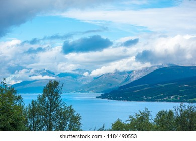 Beautiful fjord. Nature of Norway