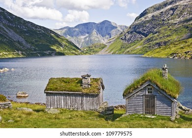 Beautiful fjord in Norway in summer time