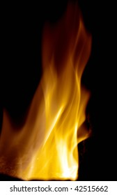 Beautiful flame over black background