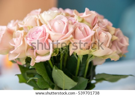 Beautiful Floral Background Bouquet Roses Pale Stock Photo Edit Now