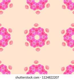 Beautiful floral pastel seamless pattern