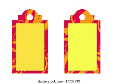 beautiful floral price or sale tags