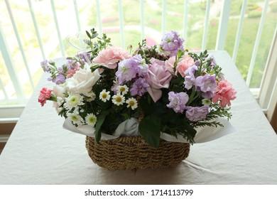 Beautiful flower arrangement for interior decoration