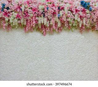 beautiful flower backdrop for wedding decoration background