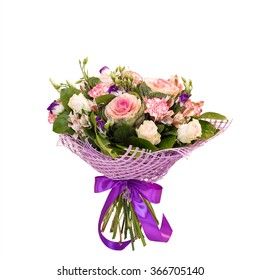 Beautiful flower bouquet isolated on white background