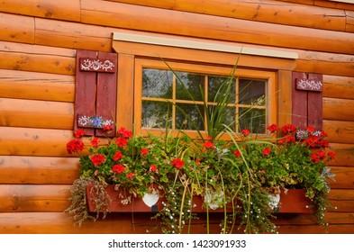 beautiful flower box in canada