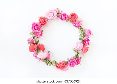 Beautiful Flower circle on white background