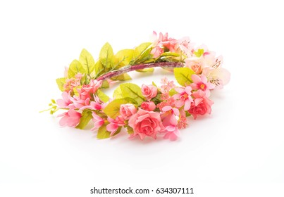 beautiful flower crown isolated on white background