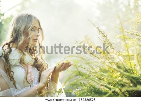 Beautiful flower nymph