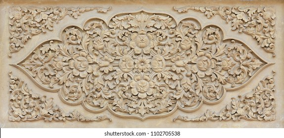 Beautiful flower stone carving