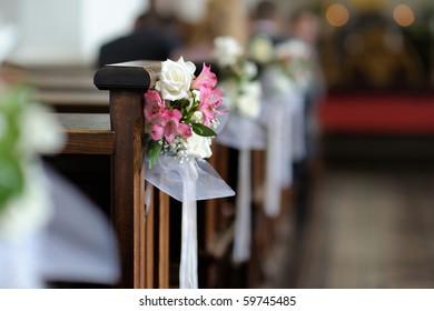 Church Wedding Decor High Res Stock Images Shutterstock
