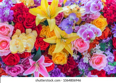 Beautiful flowers background.