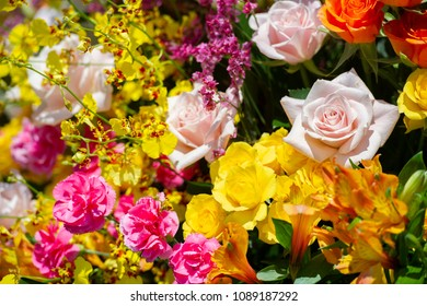 Beautiful flowers made with many kinds