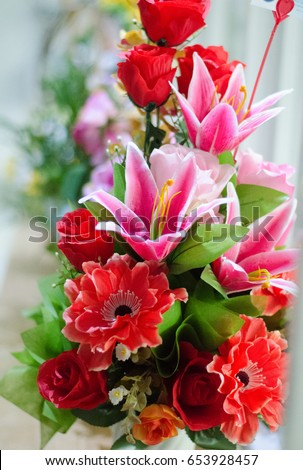 Beautiful Flowers Mixed Red Pink Colors Stock Photo Edit Now