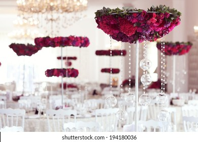 Beautiful flowers on wedding table