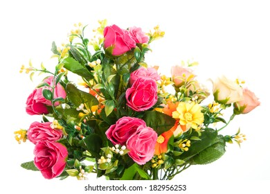 Beautiful flowers  on the white background
