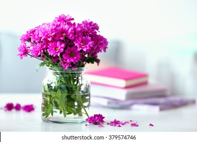 Flower vase images stock photos vectors shutterstock beautiful flowers in vase on table in room mightylinksfo