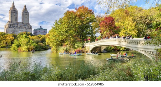 Beautiful foliage colors of New York Central Park. - Shutterstock ID 519864985