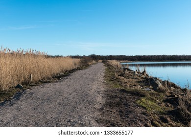 Beautiful footpath by seaside at the nature reserve by Beijershamn at the swedish island Oland