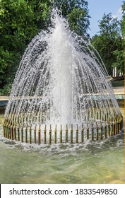 Beautiful fountain in the center of Varna, Bulgaria. Close-up.
