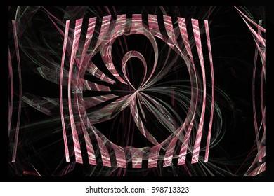 Beautiful fractal  render illustration.