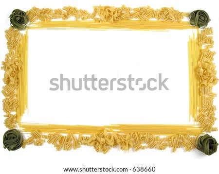 Beautiful Frame Made Out Different Pasta Stock Photo Edit Now