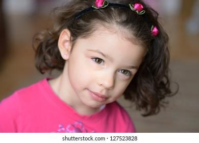 Beautiful fresh image of young girl in natural surroundings