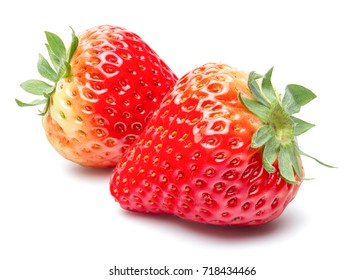 Beautiful Fresh Strawberry Isolated on White Background with Clipping Path.