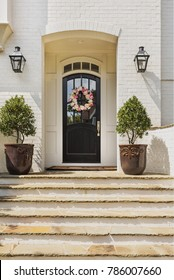 Beautiful front entrance of an upscale house
