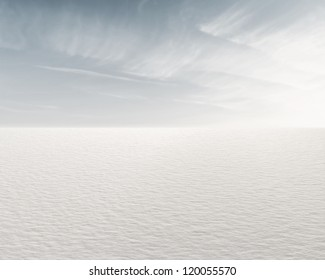 Beautiful frozen lake and sky for background