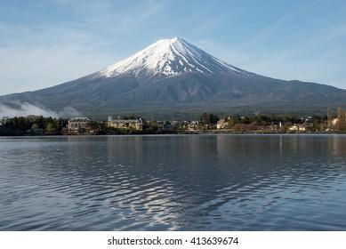 Beautiful Fuji with reflection at Lake Kawaguchi