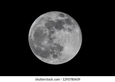 Beautiful full moon on a dark sky