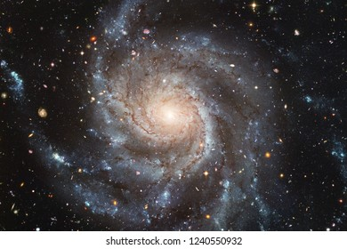 Beautiful galaxy background with nebula, stardust and bright stars. Elements of this image furnished by NASA.