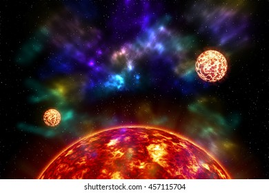 Beautiful galaxy at night have sky stars and nebula somewhere in deep space