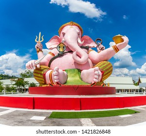 Beautiful Ganesh statue on blue sky in temple, Is highly respected by the people of Asia