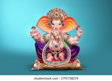 Beautiful Ganesha idol, ganpati festival