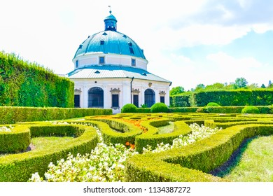 Beautiful garden, French style Unesco, Kvetna Zahrada, Kromeriz in Czech Republic - Shutterstock ID 1134387272