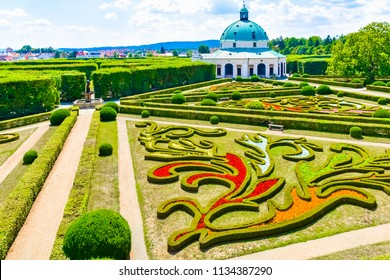 Beautiful garden, French style Unesco, Kvetna Zahrada, Kromeriz in Czech Republic - Shutterstock ID 1134387290