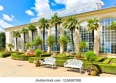 Beautiful garden, French style Unesco, Kvetna Zahrada, Kromeriz in Czech Republic - Shutterstock ID 1134387308