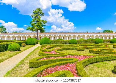 Beautiful garden, French style Unesco, Kvetna Zahrada, Kromeriz in Czech Republic - Shutterstock ID 1134387317