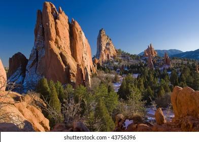 Beautiful Garden of the Gods Park near Colorado Springs, Colorado