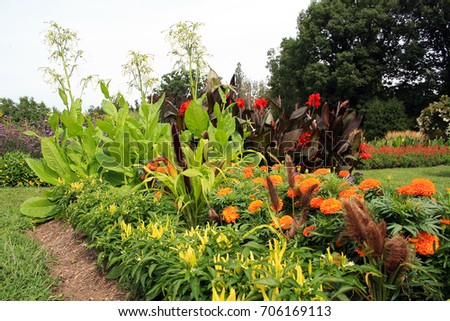beautiful garden in new jersey with orange red and yellow flowersnew jersey garden - New Jersey Garden