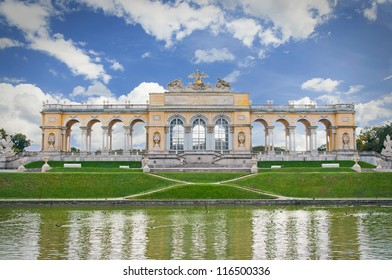 Beautiful  garden. Schonbrunn, Vienna.