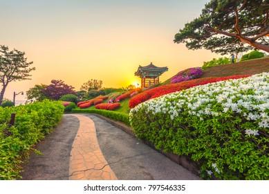 beautiful garden in Seoul,Korea.