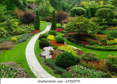 Beautiful garden in spring, victoria, british columbia, canada